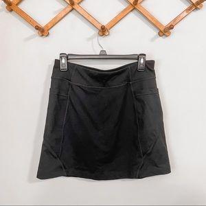 Athleta Excursion Skort Black w/ Side Pockets   S